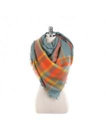 140CM Women Autumn Plaid Blanket Scarf Wraps Casual Warm Soft Scarves