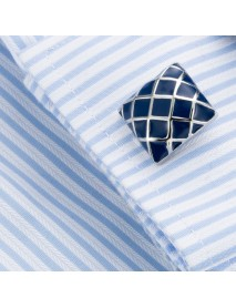 Mens Elegant French Shirt Cufflinks Business Plaid Dress Cuffs Suit Button Cuff Nail