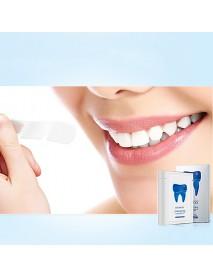 BAIMISS 7Pair Teeth Whitening Powder Strips 3D White Paste Shine Teeth Advanced Double Elastic Gel