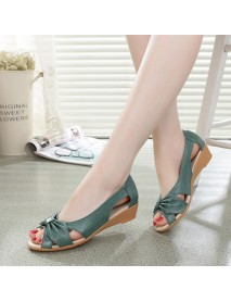 Butterfly Knot Hollow Out Causal Flats For Women