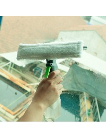 3 In 1 Spray Glass Brush Microfiber Cloth Head Silicone Scraper Window Clean Car Cleaning Tool