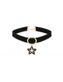 Women's Elegant Choker Star Chain Flannel Clavicle Necklace Gift for Women
