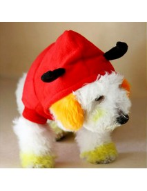 Christmas Pet Dog Cat Outstanding Devil Clothes Puppy Winter Warm Costume Red Coats Outterwear