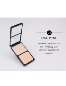 Music Flower Mineral Solid Powder Shimmer Matte Pressed Acrylic Powder With Puff Cosmetics Long lasting Nude Concealer Waterproof woman