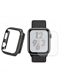Enkay Carbon Fiber Watch Cover+3D Curved Edge Hot Bending Watch Screen Protector For