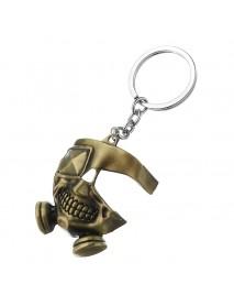 Cool Tokyo Ghoul Metal Mask Keychain Japanese Anime Pendant Key Ring Halloween