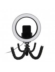 8.3/11inch 8/10W 56/80 Lamp Beads USB Double Bracket Round Tripod Photography Light LED Beauty Fill Light Desktop Flash Ring Light
