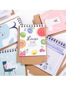 1 Pcs 2018 Mini Cartoon Calendar Lovely Creative Cute Table Calendar Desk Calendar Office School