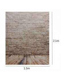 1.5 x 2.1m Brick Wall Vinyl Studio Photography Backdrop Photo Background