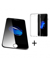 Bakeey 4D Curved Edge Tempered Glass Film With Transparent TPU Case for iPhone 6Plus/6sPlus
