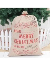 Christmas Santa Gift sack Cloth Stocking Storage Burlap Bag Bundle Christmas Decorations