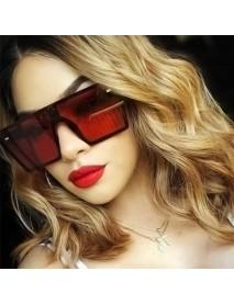 Female Big Box Colorful Mercury Sunglasses Retro Square Personality Sunglasses Conjoined Metering Goggles