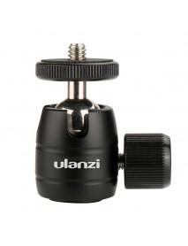 Ulanzi U-30 CNC Metal 1/4 Screw Thread Tripod Rotating 360 Degree Mini Ball Head Ballhead