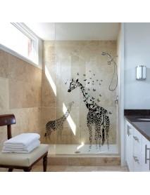 Honana DX-368 3D Giraffe Colorful Butterfly Wall Sticker Removable Home Decor Bedroom Art Applique