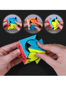 QiYi Six Spot Irregular Style ABS Colorful Magic Cube Puzzle Education Toy for Children Gift