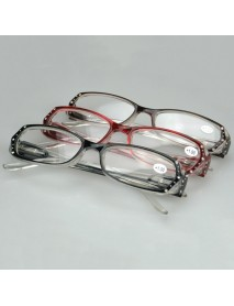 1.0-4.0 Diopter Lady Reading Glasses Spring Hinge Modern Rhinestone Crystal Diamond Design for Women