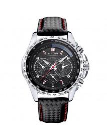 MEGIR 1010 Brand Men Watch Alloy Case Leather Strap Lumious Male Sport Casual Quartz Wrist Watch