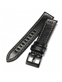 20mm Quick Release Leather Watch Band Wrist Strap For Pebble Time Round Ticwatch 2