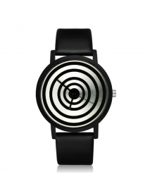 GAETY G417 Fashion Women Men Quartz Watch Creative Geometric Pattern Wrist Watch
