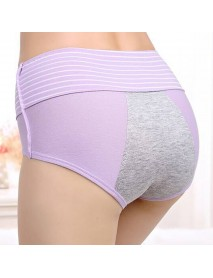 Hip Up Lace Mid Waist Physiological Panties Breathable Briefs