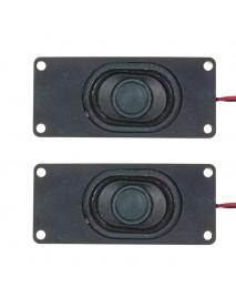 2Pcs 3 Inch Loudspeaker Passive Bass Vibrating Speaker Unit 3W 4Ohm for Computer LCD TV