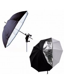 33 Inch Photography Studio Umbrella Double Layer Reflective Translucent