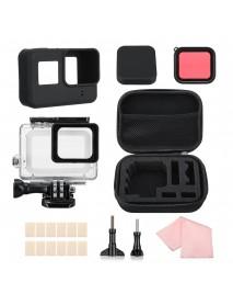 Waterproof Housing Case Storage Bag Filter Set for GoPro Hero 7 6 5 Black Sport Camera