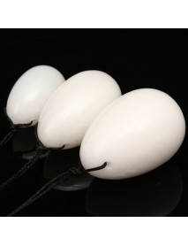 3Pcs Comfortable Set Massage Natural White Jade Eggs  Exercise Ball