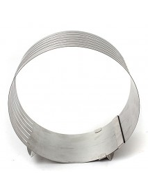 20cm Adjustable Cut Layered Stainless Steel Round Ring Circular Baking Mold Bakeware