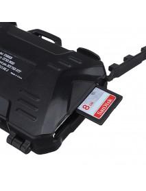Backpacker Memory Card Box Case Card Pin Card Reader for SD TF CF Memory Card