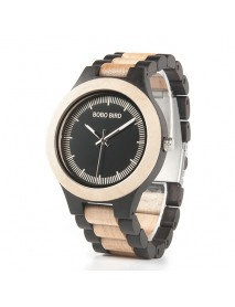 BOBO BIRD L*O01O02 Casual Style Wood Creative Watches Bamboo Strap Unisex Quartz Watch