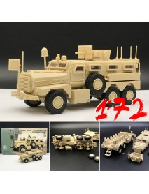 1/72 US Army Cougar American Modern 6x6 Mrap Vehicle Military Plastic Model Toys