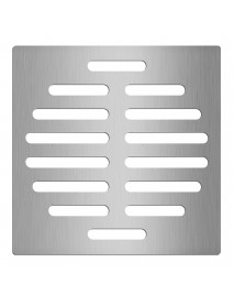 6 Inch Silver Floor Drain Protector Tone Square Shape Stainless Steel Floor Drain Cover Home