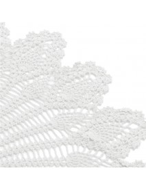 32'' Hand Crochet Round Tablecloth Runner Topper Restaurant Decoration Victorian White Cotton