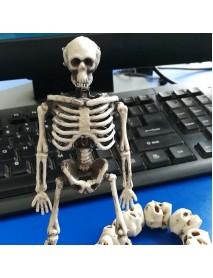 15cm Skeleton Escape Haunted House Halloween Skull Decoration Hanging Plastic Skeletons Tricky