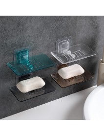 Wall Mounted Soap Dish Drain Soap Holder Storage Rack Bathroom Plate Case Organizer Hanging Soap Box
