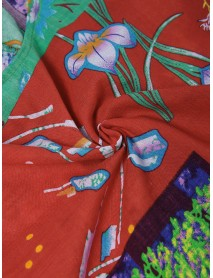Bohemian Floral Print Crew Neck Half Sleeve Plus Size T-shirts