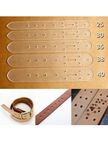 5 pcs Practical Head Buckle Belt Leather Craft Tool Acrylic Boletus End Models Stencil Set