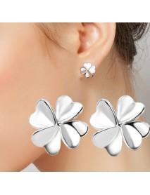 925 Sterling Silver Sweet Lucky Flower Earrings For Women