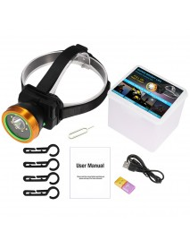 Mini 1080P HD LED Headlamp Camera Video Recorder IP66 Audio Night Vision Long Battery Life