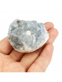 Natural Blue Celestite Crystal Quartz Drusy Geode Cluster Healing Stone Decorations