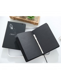 1PC Notebook Diary Black Paper Notepad Sketch Graffiti Notebook for Drawing Painting Office School