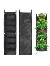 7 Pockets Hanging Vertical Garden Wall Planting Bag Waterproof for Yard Garden Home Decoration