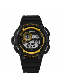 SANDA 302 Digital Watch Men Stopwatch Calendar 30M Waterproof Outdoor Watch Fashion Dial Sport Watch