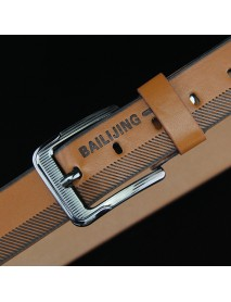 108CM Leather Printting Belt Leisure Jeans Waistband With Alloy Pin Buckle for Men
