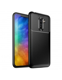 Bakeey Carbon Fiber Pattern Shockproof Silicone Back Cover Protective Case for Xiaomi Pocophone F1
