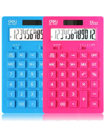1pcs Deli 1657A Ultra-thin Solar Calculator Stationery Calculation