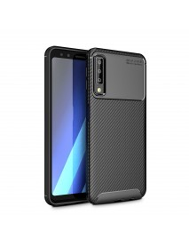 Bakeey Protective Case For Samsung Galaxy A7 Carbon Fiber Fingerprint Resistant Soft TPU Back Cover