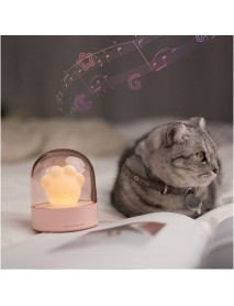 3Life 006 Creative Cat Paw Musical Night Light USB Charging LED Night Light Built In Music Player Remote Control Bedroom Table Lamps From Xiaomi Youpin