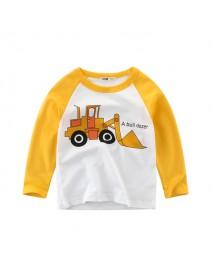 Car Printed Boys Long Sleeve Tops T-Shirts For 3Y-12Y